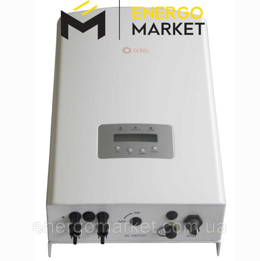 Инвертор сетевой Solis-5K-2G (5 кВт, 2 MPPT, 1 фаза)