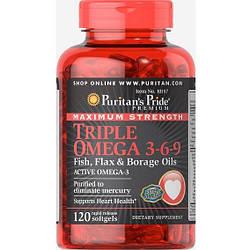 PsP Maximum Strength Triple Omega 3-6-9 Fish, Flax & Borage Oils - 120 софт