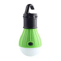 Универсальный яркий LED фонарь лампочка для кемпинга, портативный на крючке в зеленом цвете