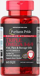 PsP Maximum Strength Triple Omega 3-6-9 Fish, Flax & Borage Oils - 60 софт