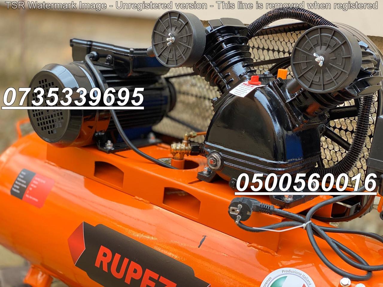 Воздушный компрессор Rupez CS 100л 640л/мин компресор ременной 3.5кВт