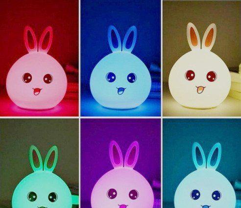 Оригинальный детский ночник Rabbit Silicone Lamp, LED лампа, светильник силиконовый ks602