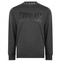 Оригинальная Толстовка Everlast Long Length Sweatshirt Mens - Grey/Black