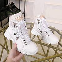 Ботинки зимние кожаные Gucci