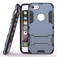 Чехол Iron для Iphone 5 / 5s / SE бронированный Бампер с подставкой Dark Blue, фото 1