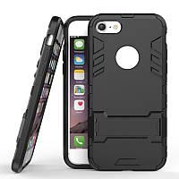 Чехол Iron для Iphone 6 Plus / 6s Plus бронированный Бампер с подставкой Black, фото 1