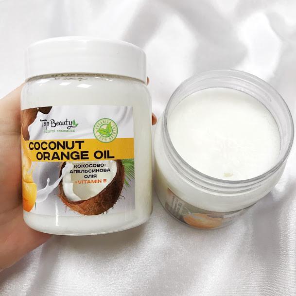 """Ароматизированное кокосовое масло для волос и тела """"Апельсин"""" Top Beauty  250 мл"""