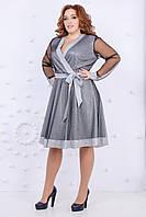 Нарядное новогоднее блестящее платье, очень красиво переливается р.48-50, 52-54 код 2932М