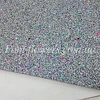 Экокожа, мраморный блеск Цвет Чёрный Размер 19*30см