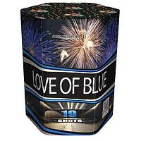 "Батарея салютов LOVE OF BLUE (SB19-02) - 19 выстрелов, 3 эффекта, 30 мм ""Drakon"" ZB-0013"