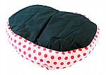 Ліжко LEADER SOFA 33*38 см для собак синій з рожевими цяточками, фото 2