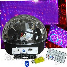 Диско шар музыкальный СВ-0305 LED Rotating Bulb c bluetooth, MP3