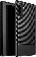 Чехол-накладка Ipaky Moosy Series/TPU With Carbon Fiber Case Samsung Galaxy Note 10 Black #I/S