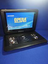 """Портативный DVD + телевизор Opera TV OP-1680 21"""" T2/USB/HD, фото 2"""