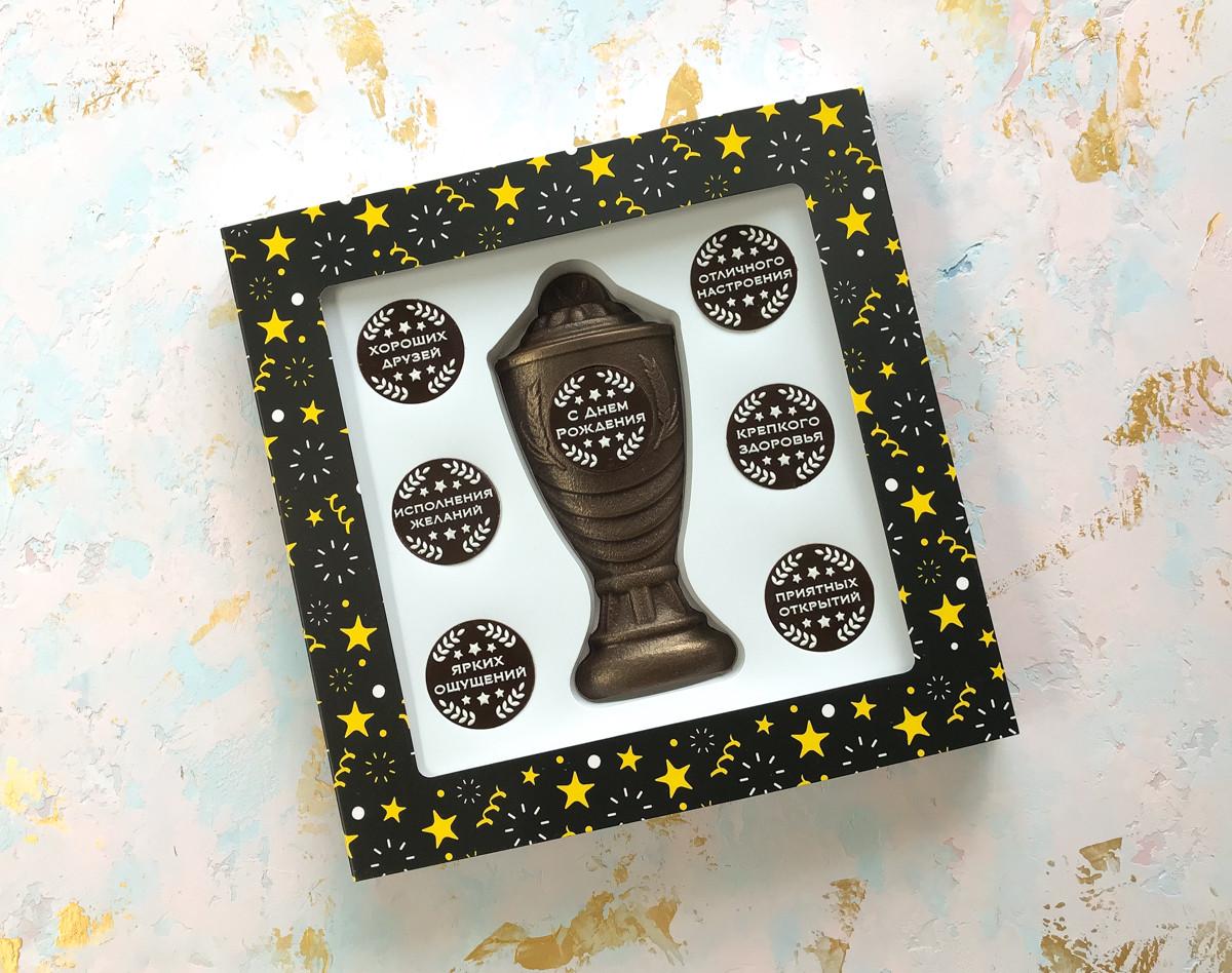 Шоколадный подарок ручной работы Кубок С Днем рождения