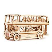 Механический 3D-пазл Wooden.City Лондонской автобус, конструктор для развития детей