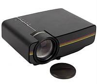 Проектор мультимедийный портативный с динамиком Led Projector LEJIADA YG400, черный