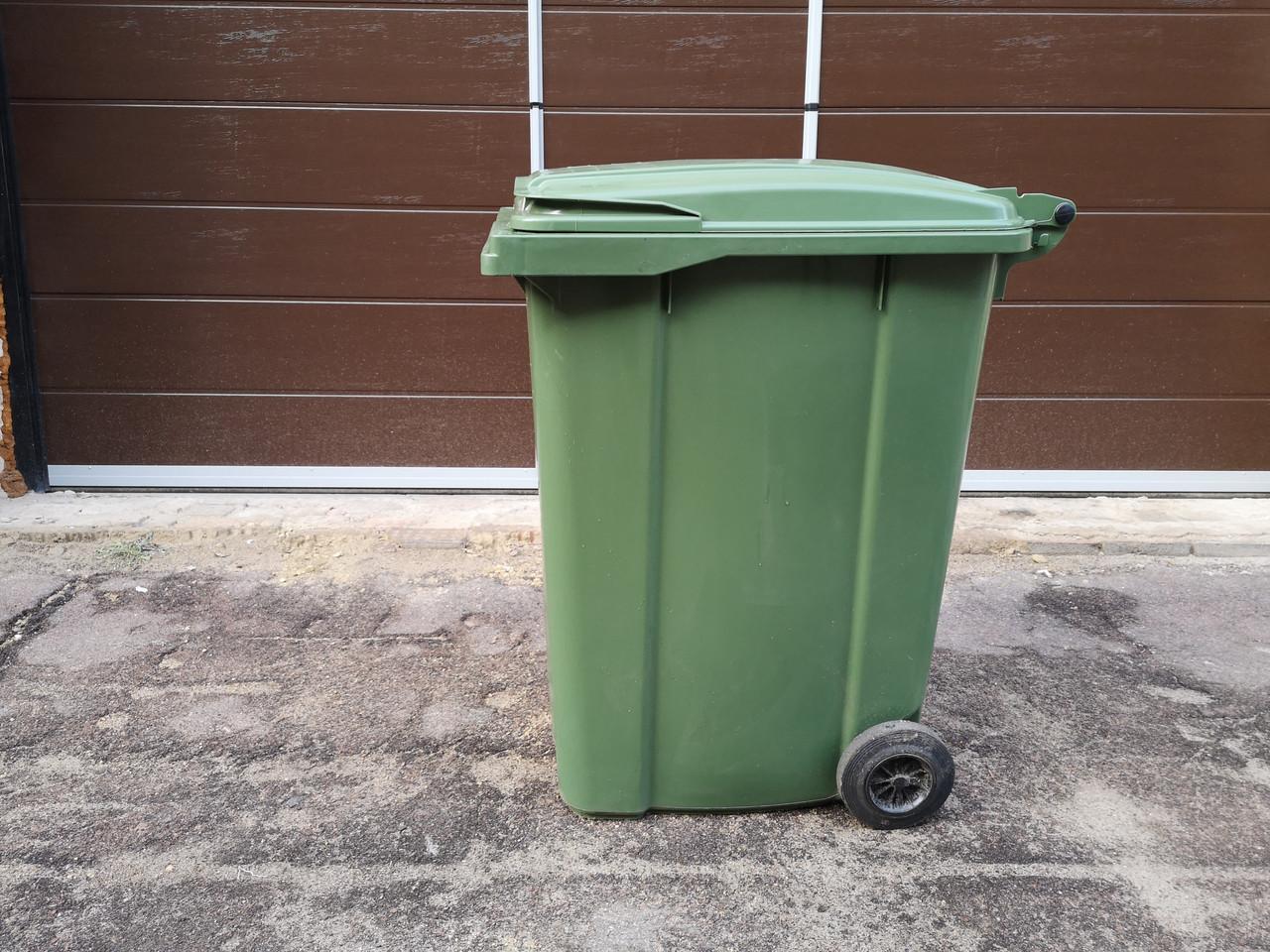 Мусорный бак для ТБО 360 л (Германия) зеленый