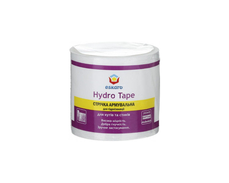 Стрічка синтетична ESKARO HYDRO TAPE 10см гідроізоляційна 25 м. п.