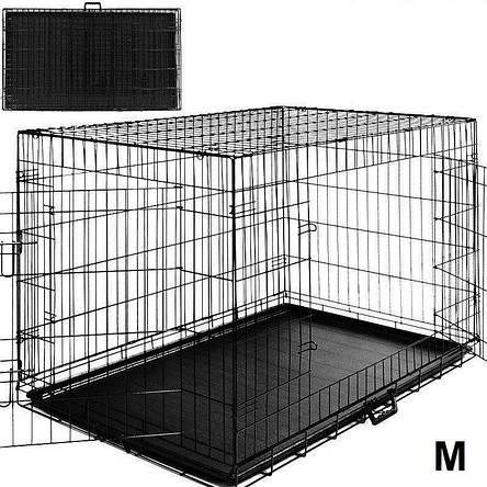 Металлическая клетка переноска для собак Dog carrier М, фото 2