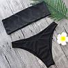 Женский купальник бандо черного цвета опт L