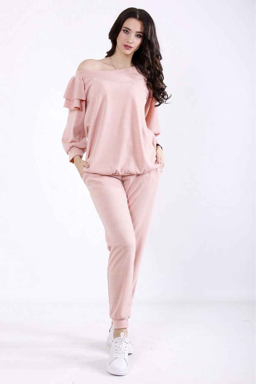 01356-1   Розовый костюм из ангоры большого размера