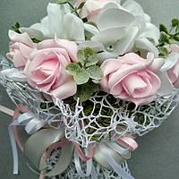 Букет дублёр (бело-розовый с зеленью)