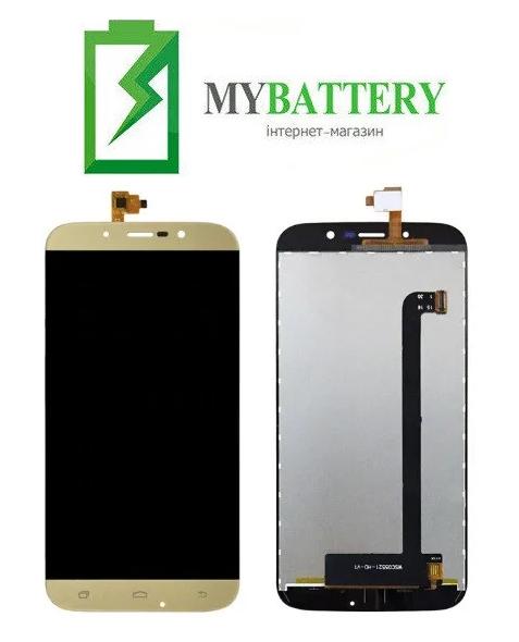 Дисплей (LCD) Bravis A553 Discovery Dual Sim/ S-TELL M555/ UMI Rome X с сенсором золотой