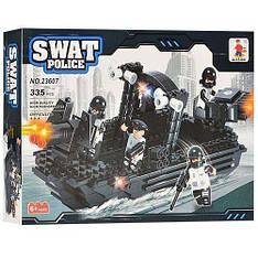 Детский конструктор AUSINI 23607 Катер полицейского спецназа, 335 дет.