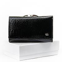 Женский компактный кожаный кошелек SERGIO TORRETTI (WS-10 черный)