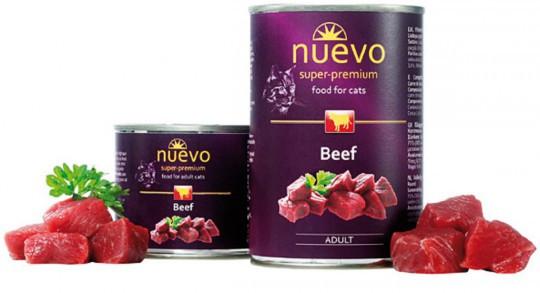Консервы для котов NUEVO ADULT (взрослые) консервированый корм с говядиной 200 г