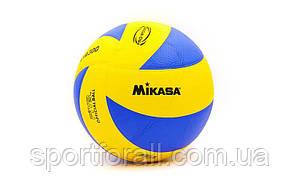Мяч волейбольный Клееный PU MIKASA MVA-300 (PU, №5, 5 сл., клееный) VB-1844