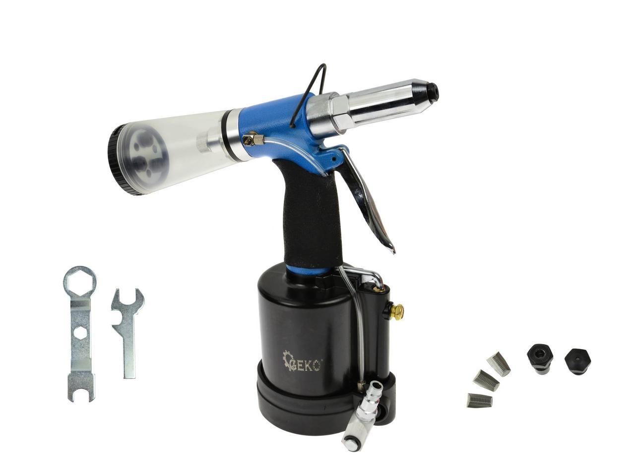 Пневматическая клепка с автоматическим заклепочным  Geko 2,4-6,4mm G01347