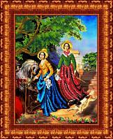 """Схема для вышивания бисером Репродукция картины К. Брюллова """"Две сестры"""""""