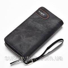 Мужской кошелек клатч портмоне барсетка Baellerry S 1514. Кошелек портмоне Baellerry S1514 Black