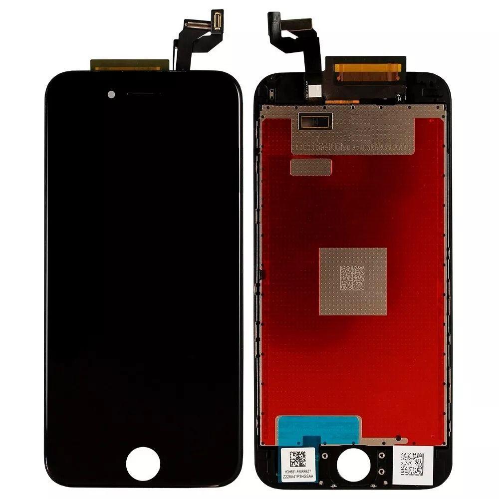 Дисплейный модуль для iPhone 6s в сборе с тачскрином, черный, с рамкой