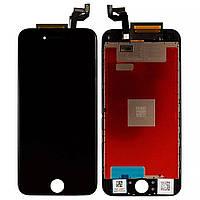 Дисплейний модуль для iPhone 6s в зборі з тачскріном, чорний, з рамкою