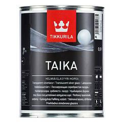 Перламутровая лазурь Tikkurila Taika 0,9л (Золотистый/Серебристый)