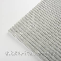 Відріз плюшу minky stripes світло-сірого кольору 100*80 см