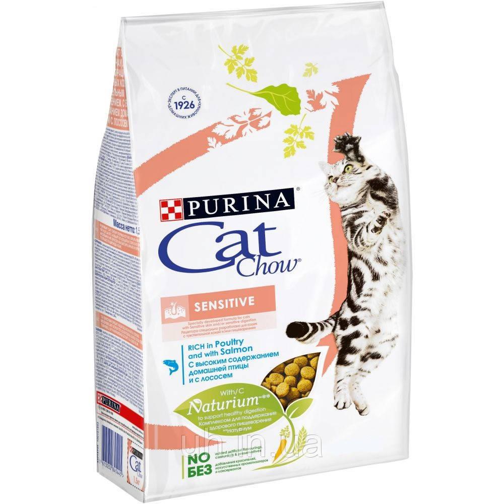 Cat Chow Sensitive сухой корм для кошек с чувствительным пищеварением 0.4КГ