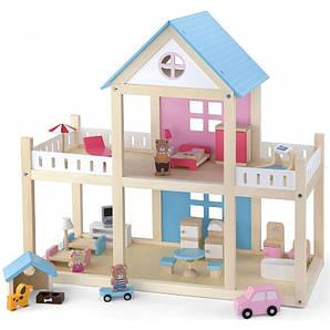 VIGA Дерев'яний ляльковий будинок з аксесуарами (50255)