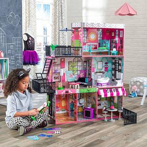"""Kidkraft Дерев""""яний Ляльковий будинок Dollhouse Бруклін Loft (65922)"""