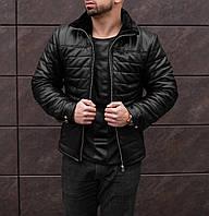ЛЮКС! Куртка кожаная мужская зимняя на меху до -25°С | куртка мужская зимняя