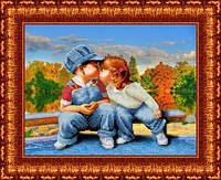 Схема для вышивания бисером Первый поцелуй