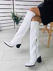 Женские зимние кожаные белые сапоги, р.35-40, фото 3