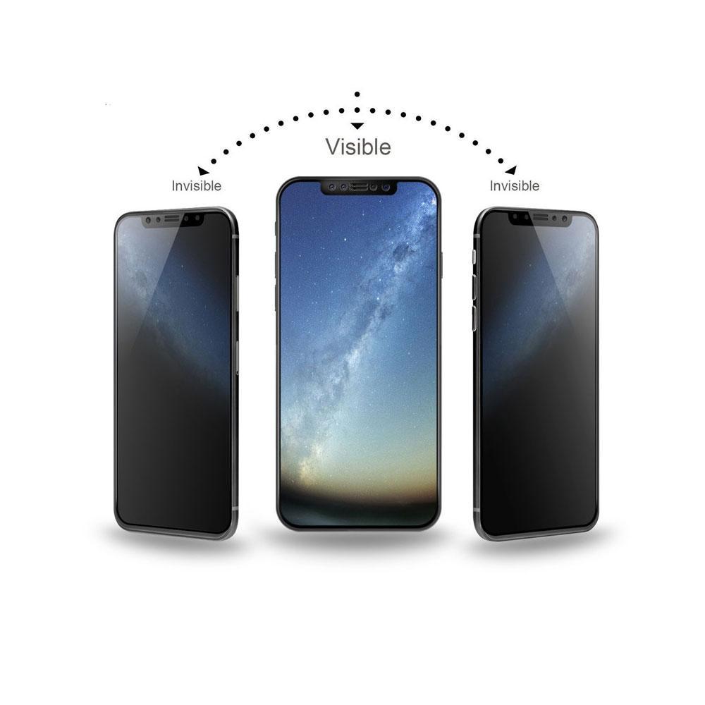 Защитное 6D стекло антишпион iphone 8+ с черной рамкой