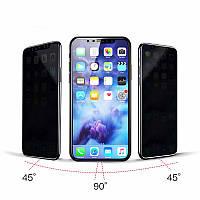 Защитное 3D стекло антишпион с черной рамкой для IPhone XR, фото 1