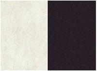 Набор  фетр листовой_белый, черный 1мм (мягкий)