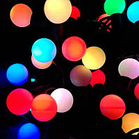 Гирлянда средние шарики 40 LED светодиодная