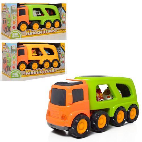 Детская игрушка трейлер инерционный Kinetic Truck 933-101-2-3 2 машинки спецтехники